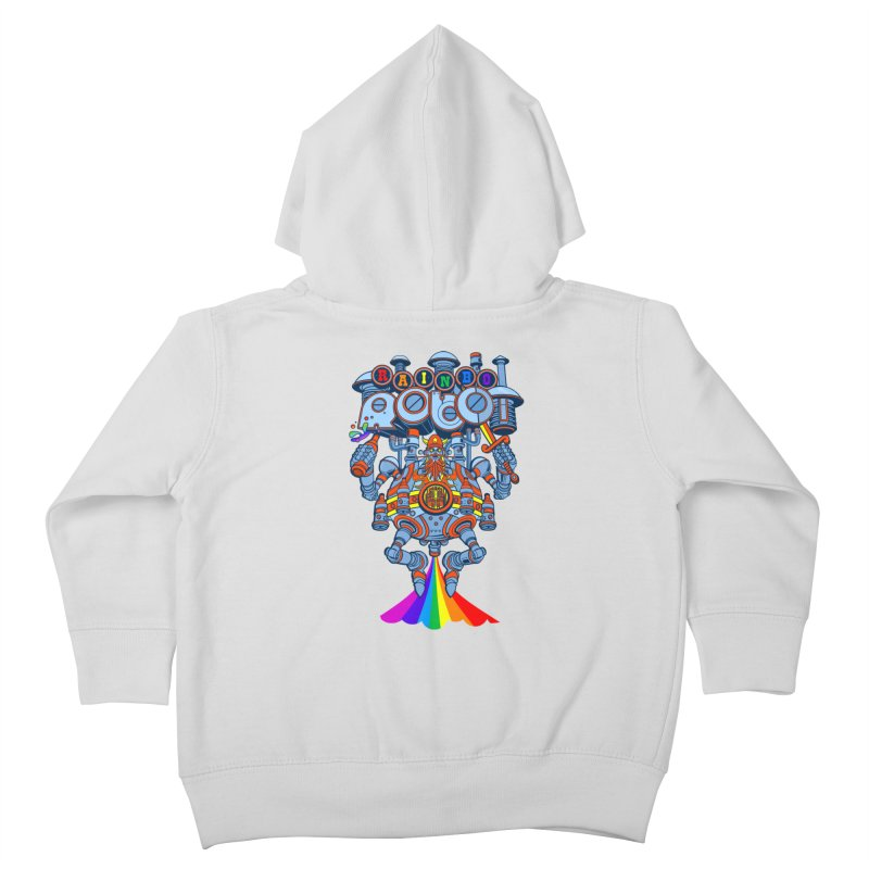 Rainbow Robo Kids Toddler Zip-Up Hoody by Jesse Philips' Artist Shop