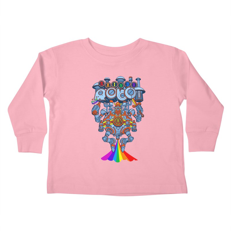 Rainbow Robo Kids Toddler Longsleeve T-Shirt by Jesse Philips' Artist Shop