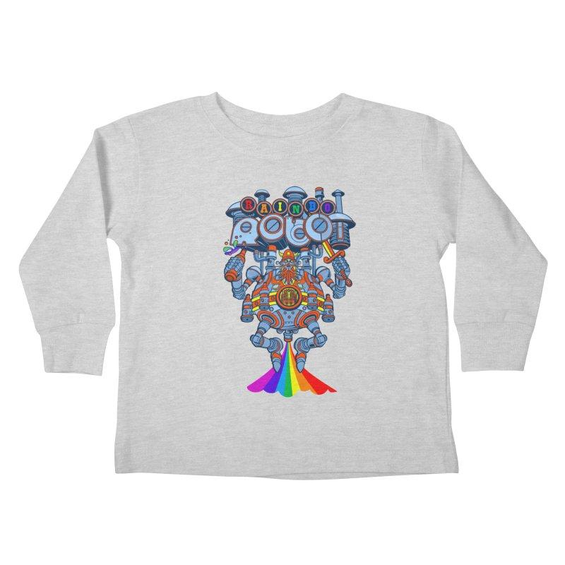 Rainbow Robo Kids Toddler Longsleeve T-Shirt by Jesse Philips' Artist Shop