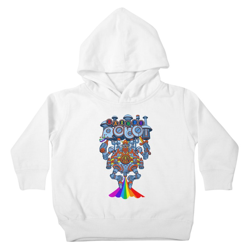 Rainbow Robo Kids Toddler Pullover Hoody by Jesse Philips' Artist Shop