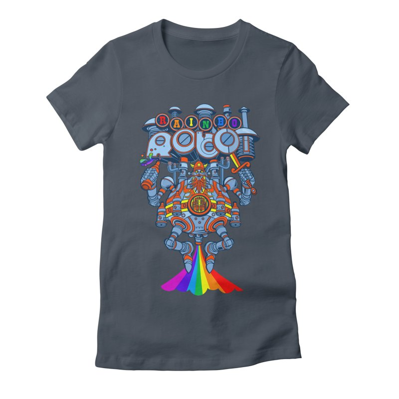 Rainbow Robo Women's T-Shirt by Jesse Philips' Artist Shop
