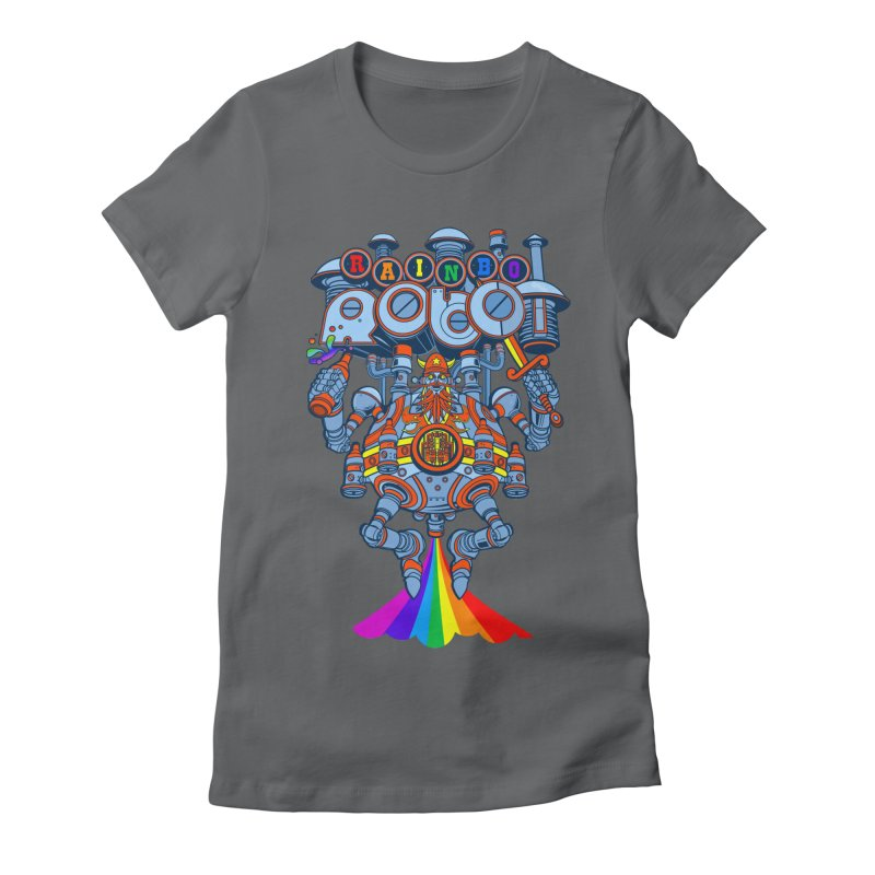 Rainbow Robo Women's Fitted T-Shirt by Jesse Philips' Artist Shop