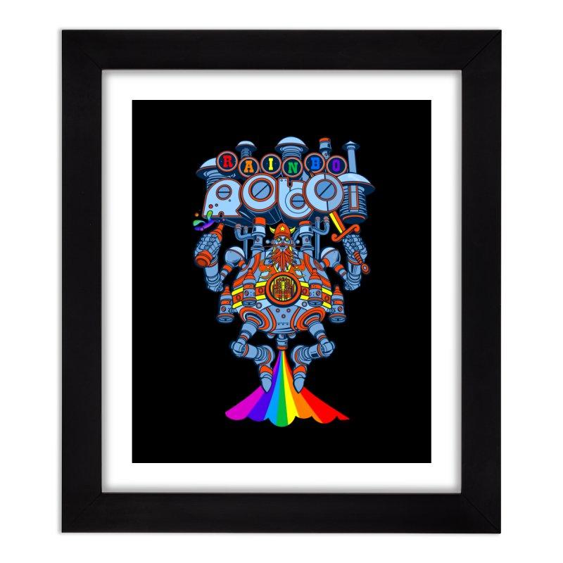 Rainbow Robo Home Framed Fine Art Print by Jesse Philips' Artist Shop