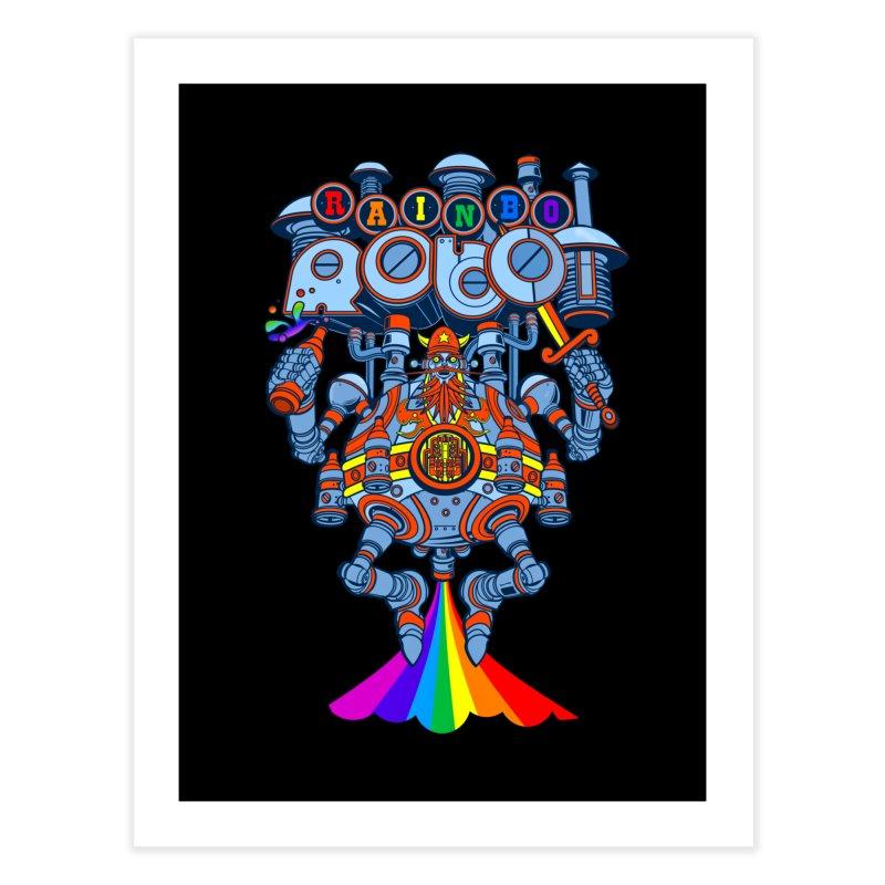 Rainbow Robo Home Fine Art Print by Jesse Philips' Artist Shop