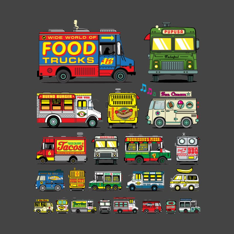 Food Truck Men's Baseball Triblend T-Shirt by Jesse Philips' Artist Shop