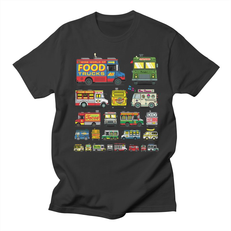 Food Truck Men's Regular T-Shirt by Jesse Philips' Artist Shop