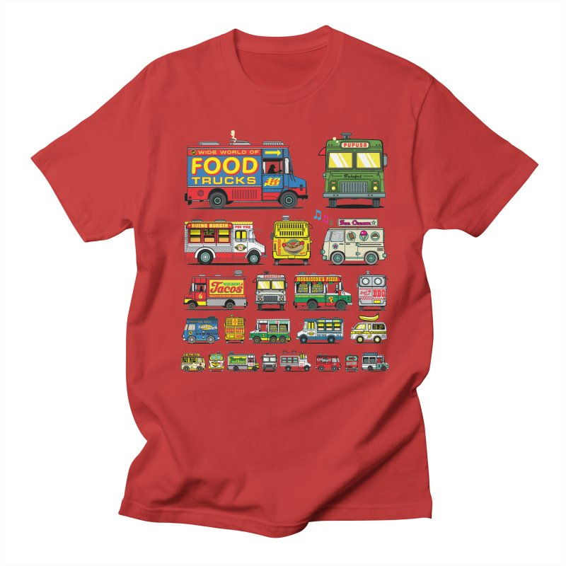 Food Truck Men's Regular T-Shirt by Jesse Philips' Artist Shop
