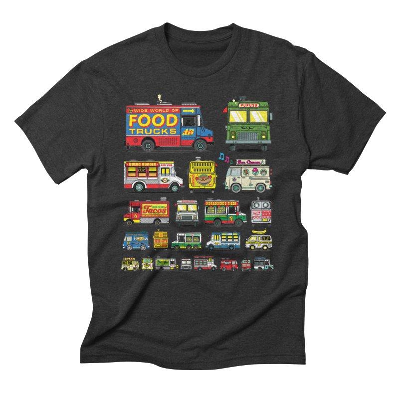 Food Truck Men's Triblend T-Shirt by Jesse Philips' Artist Shop