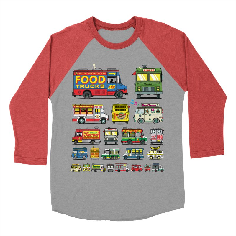 Food Truck Women's Baseball Triblend Longsleeve T-Shirt by Jesse Philips' Artist Shop
