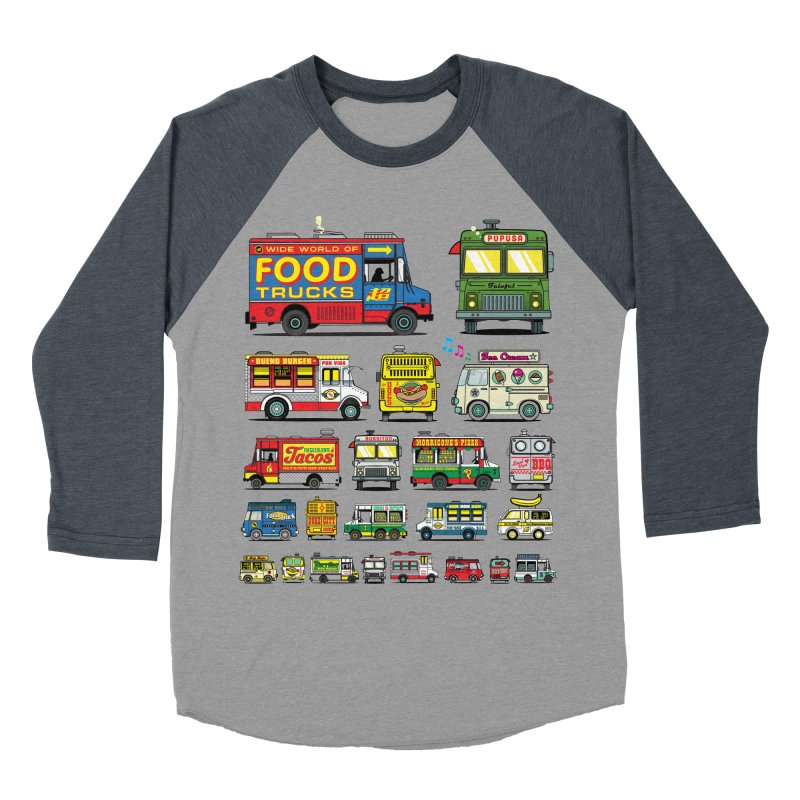 Food Truck Women's Baseball Triblend Longsleeve T-Shirt by Jesse Philips' Artist Shop