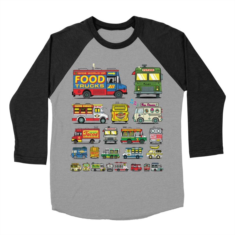 Food Truck Men's Baseball Triblend Longsleeve T-Shirt by Jesse Philips' Artist Shop