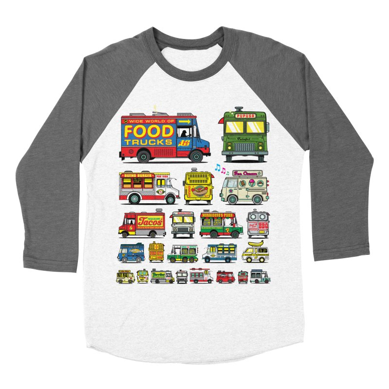 Food Truck Men's Baseball Triblend Longsleeve T-Shirt by Jesse Philips' Artist Shop