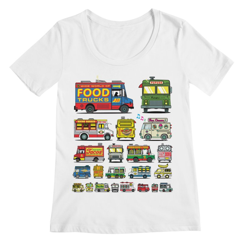 Food Truck Women's Regular Scoop Neck by Jesse Philips' Artist Shop