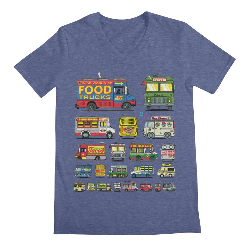 Food Truck Men's Regular V-Neck by Jesse Philips' Artist Shop