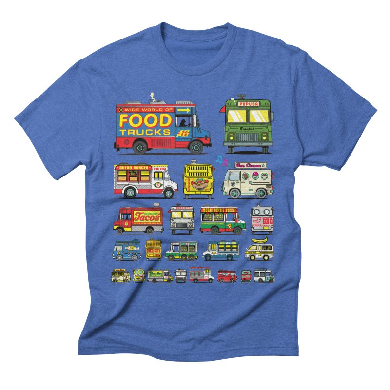 Food Truck Men's Triblend T-shirt by Jesse Philips' Artist Shop