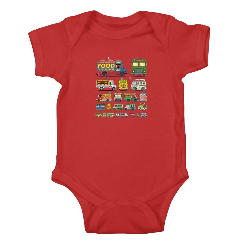 Food Truck Kids Baby Bodysuit by Jesse Philips' Artist Shop