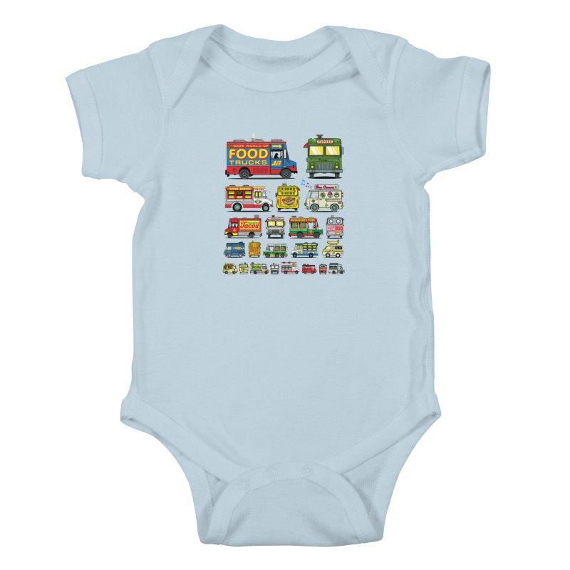 Food Truck Kids Baby Bodysuit by Jesse Philips' Artist Shop