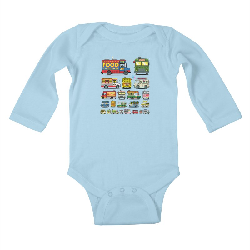 Food Truck Kids Baby Longsleeve Bodysuit by Jesse Philips' Artist Shop