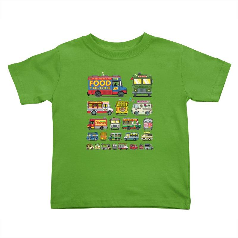 Food Truck Kids Toddler T-Shirt by Jesse Philips' Artist Shop