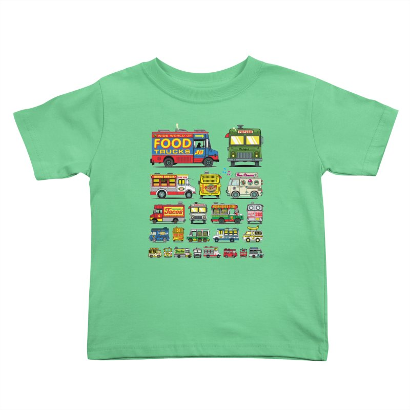 Food Truck Kids Toddler T-Shirt by Jesse Philips' Artist Shop