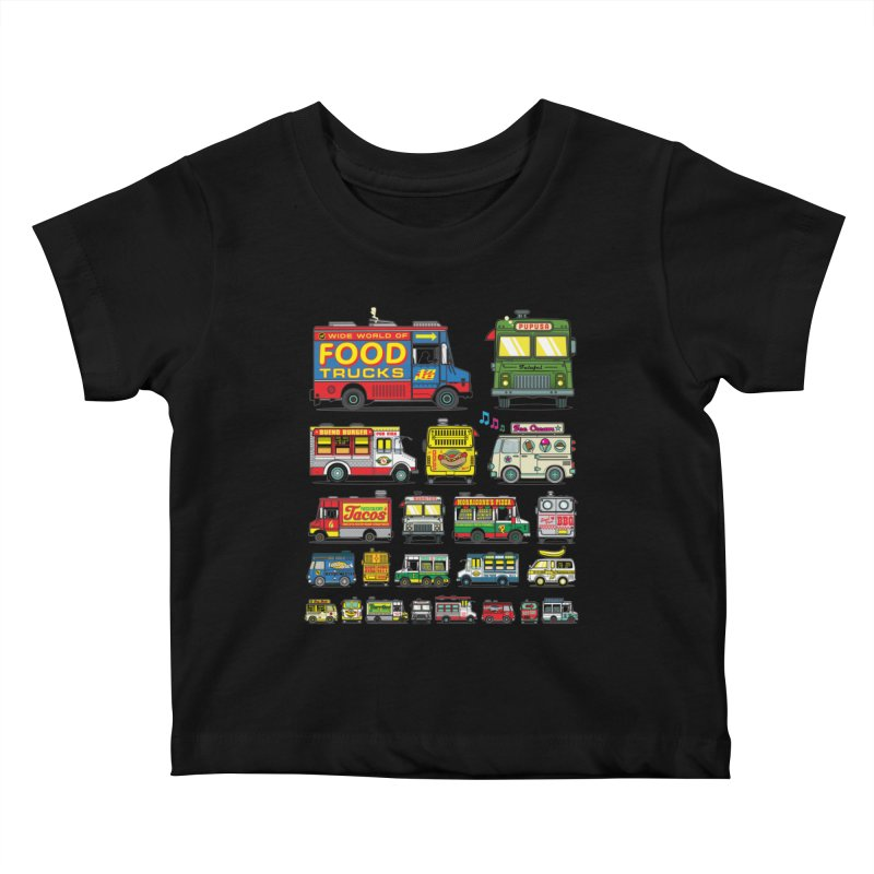 Food Truck Kids Baby T-Shirt by Jesse Philips' Artist Shop