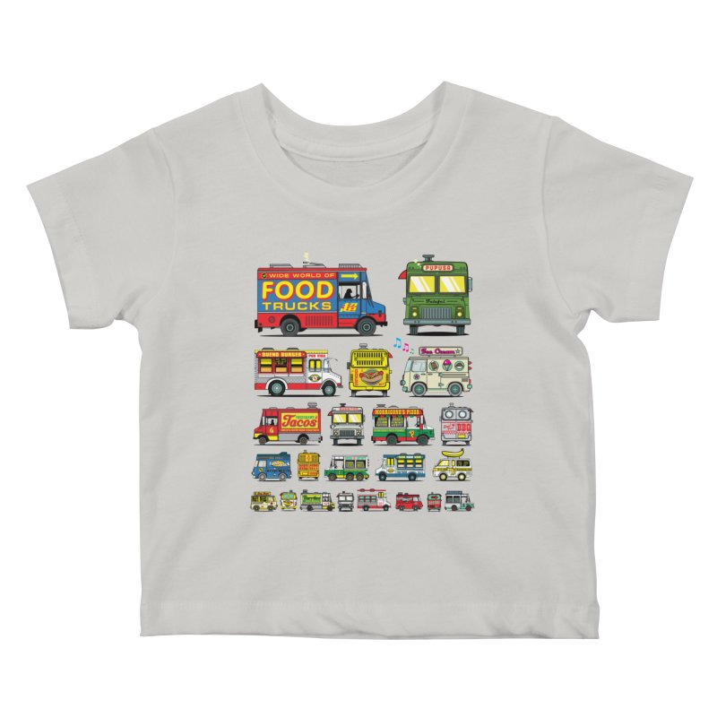 Food Truck Kids Baby T-Shirt by Jesse Philips' Artist Shop