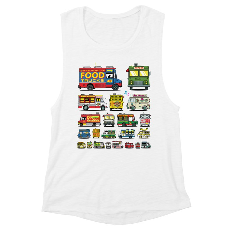 Food Truck Women's Muscle Tank by Jesse Philips' Artist Shop