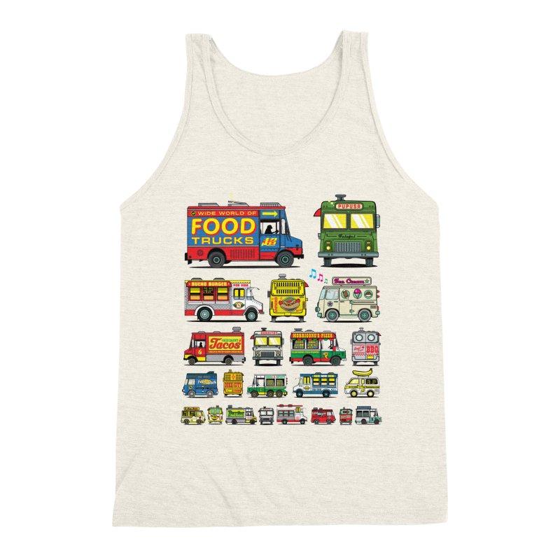 Food Truck Men's Triblend Tank by Jesse Philips' Artist Shop