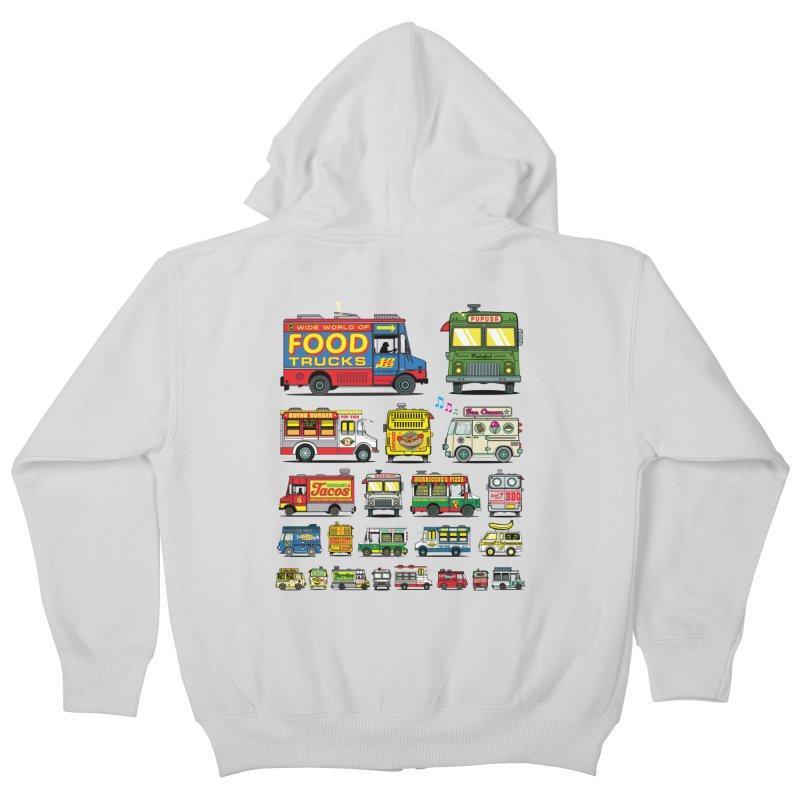 Food Truck Kids Zip-Up Hoody by Jesse Philips' Artist Shop