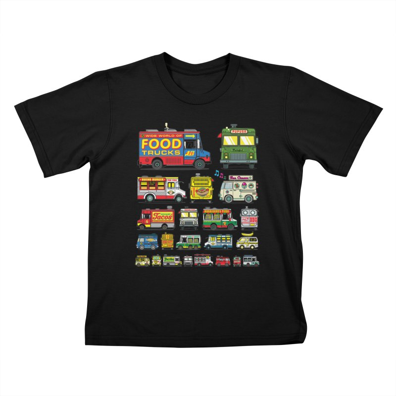 Food Truck Kids T-Shirt by Jesse Philips' Artist Shop