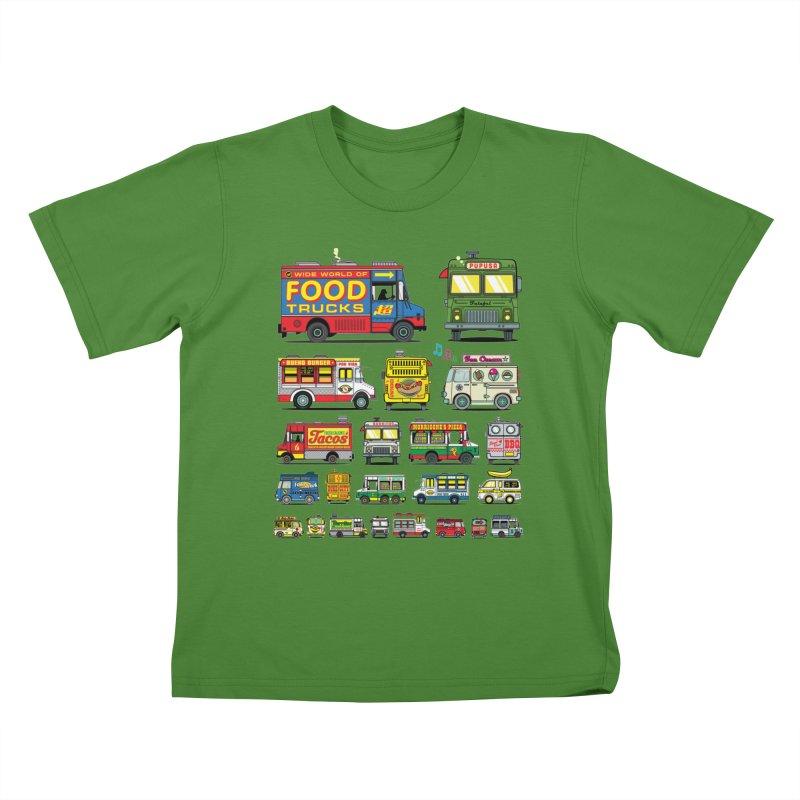 Food Truck Kids T-Shirt by Jesse Philips' Artist Shop