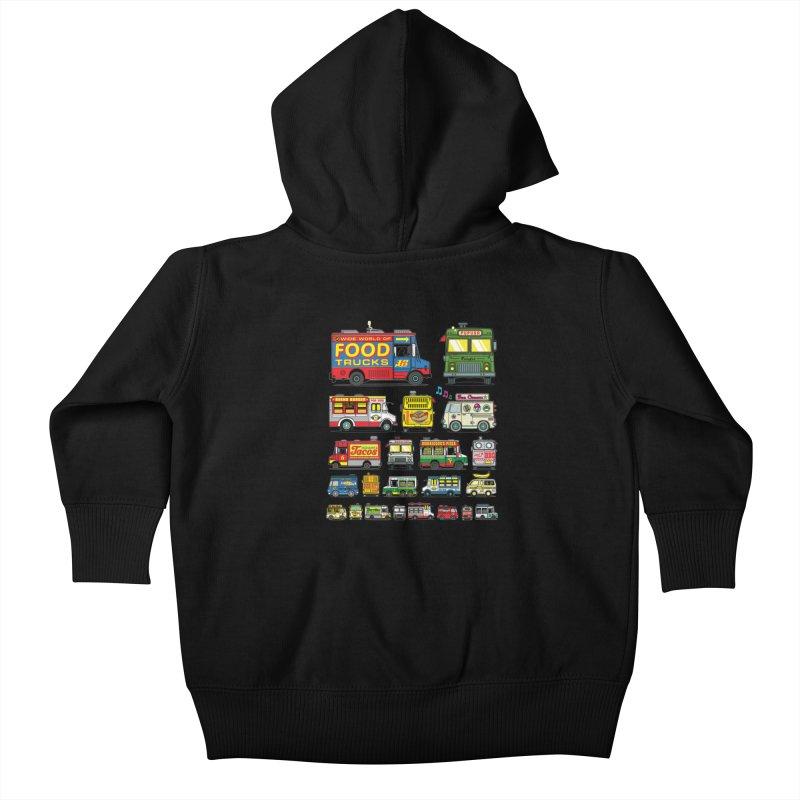 Food Truck Kids Baby Zip-Up Hoody by Jesse Philips' Artist Shop