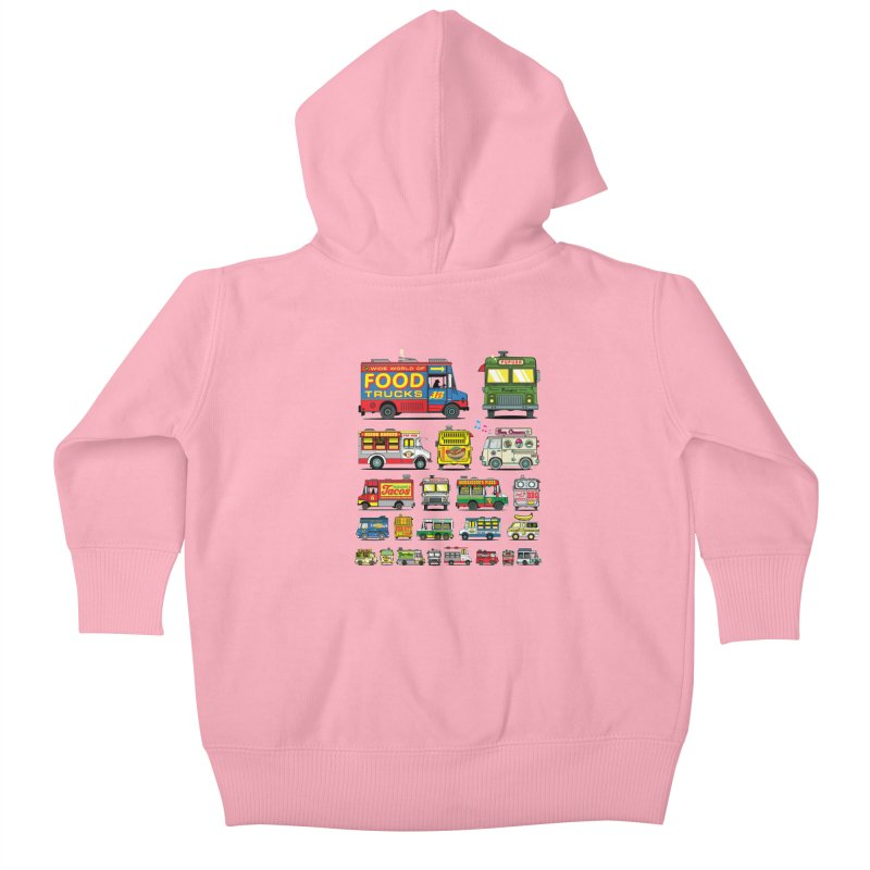 Food Truck Kids Baby Zip-Up Hoody by Jesse Philips' Artist Shop