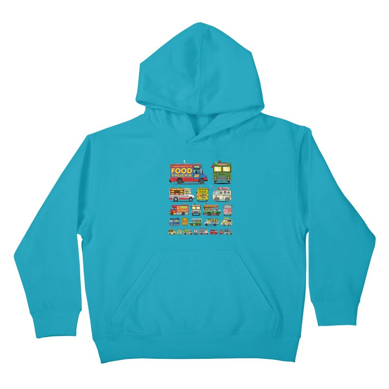 Food Truck Kids Pullover Hoody by Jesse Philips' Artist Shop
