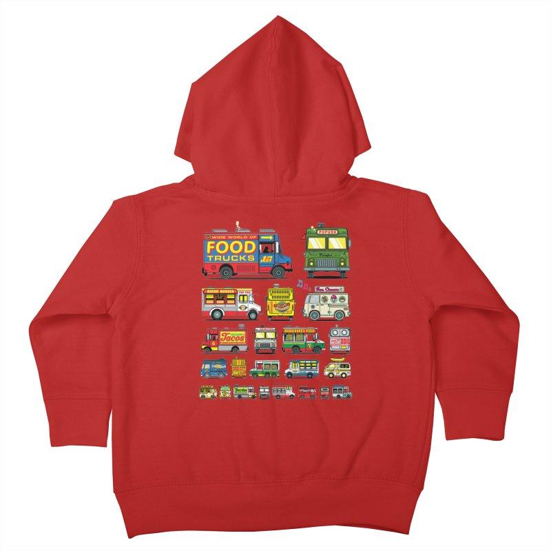 Food Truck Kids Toddler Zip-Up Hoody by Jesse Philips' Artist Shop