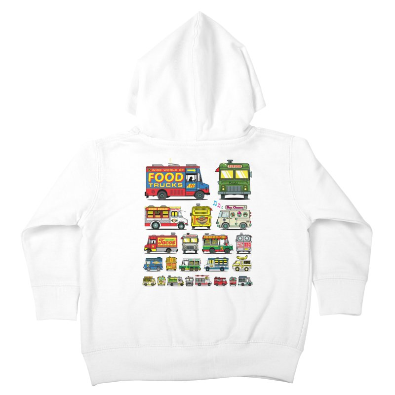 Food Truck Kids Toddler Zip-Up Hoody by Jesse Philips' Artist Shop