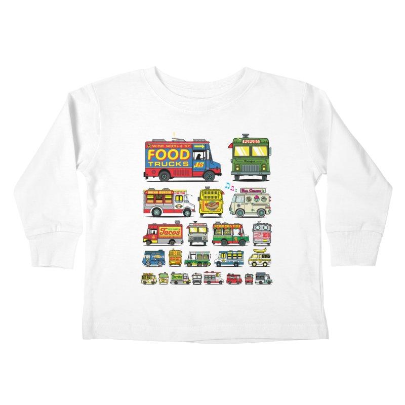 Food Truck Kids Toddler Longsleeve T-Shirt by Jesse Philips' Artist Shop