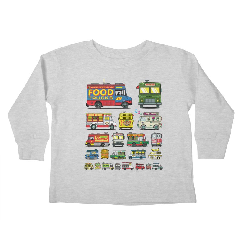 Food Truck Kids Toddler Longsleeve T-Shirt by Jesse Philips' Artist Shop