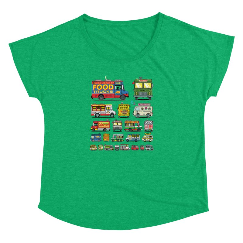 Food Truck Women's Dolman Scoop Neck by Jesse Philips' Artist Shop