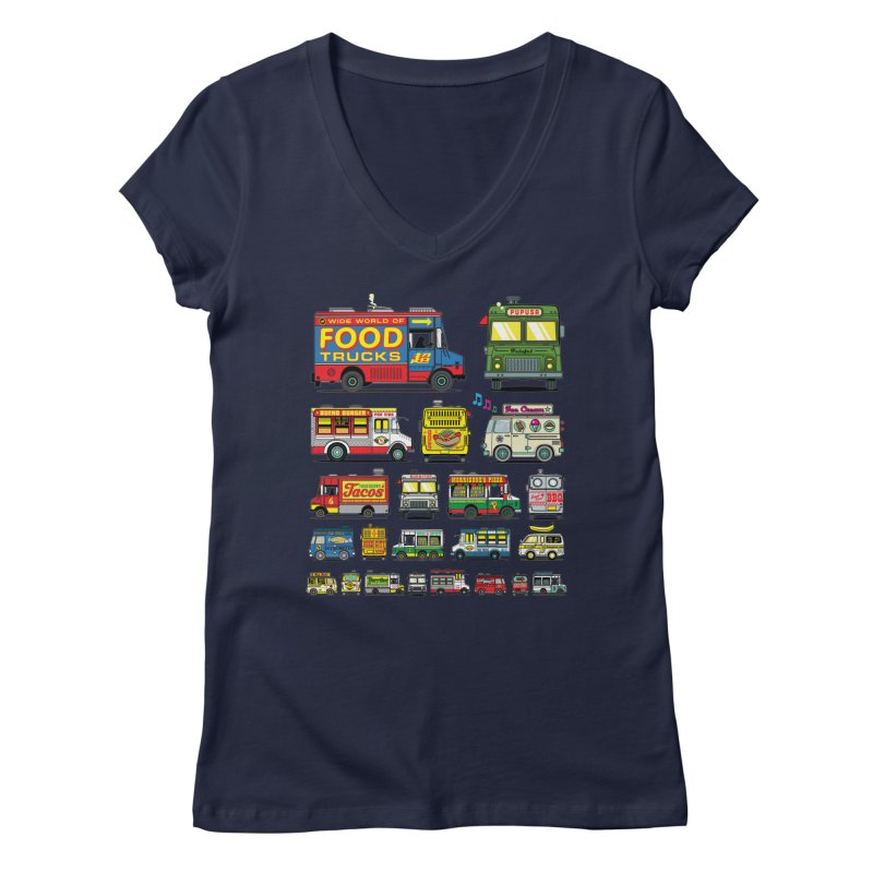 Food Truck Women's V-Neck by Jesse Philips' Artist Shop