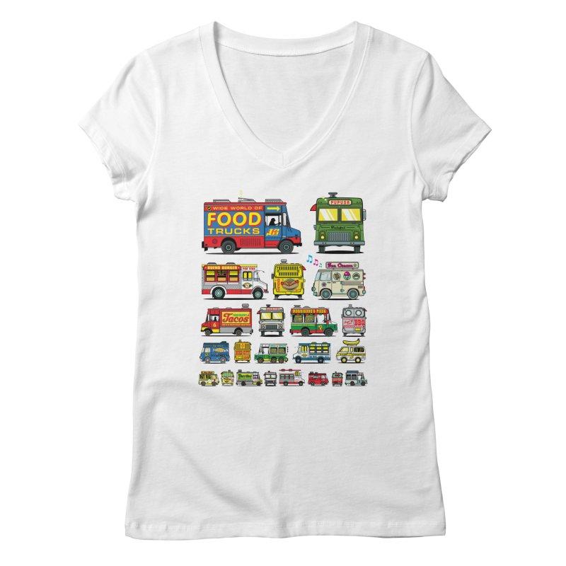 Food Truck Women's Regular V-Neck by Jesse Philips' Artist Shop