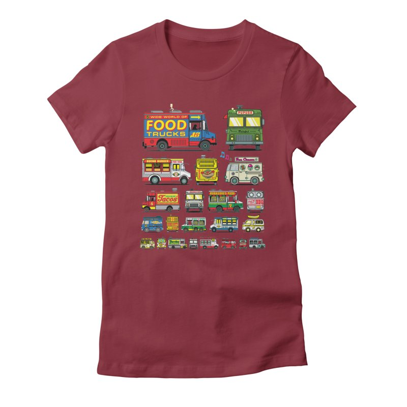 Food Truck Women's Fitted T-Shirt by Jesse Philips' Artist Shop