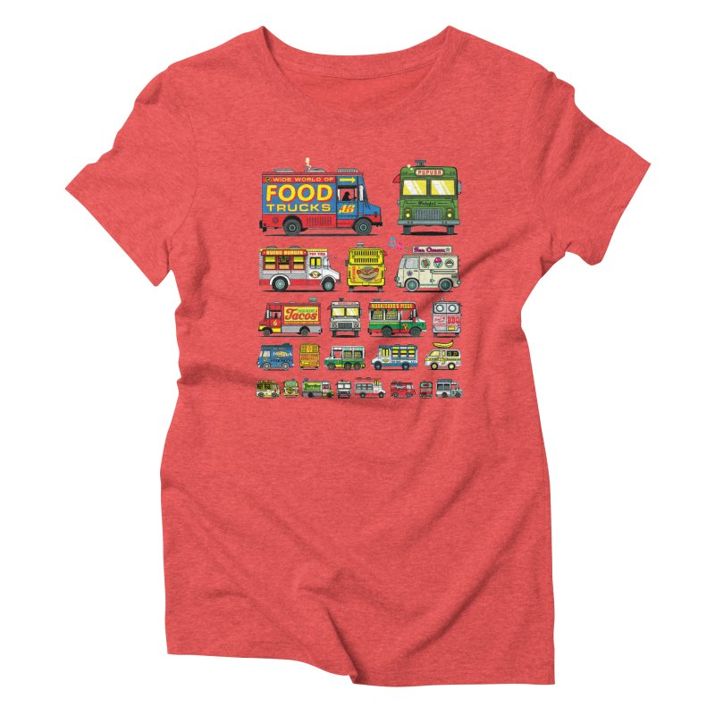 Food Truck Women's Triblend T-Shirt by Jesse Philips' Artist Shop
