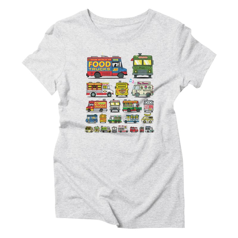 Food Truck Women's Triblend T-shirt by Jesse Philips' Artist Shop
