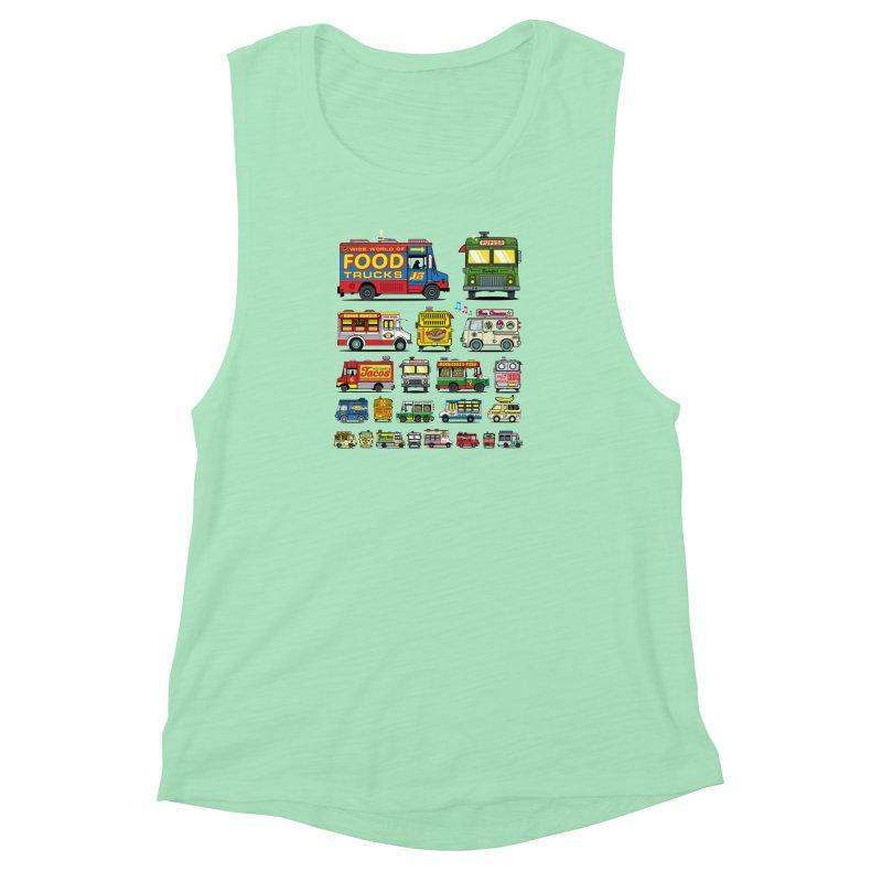 Food Truck Women's Muscle Tank by Jesse Philips' Artist Shop