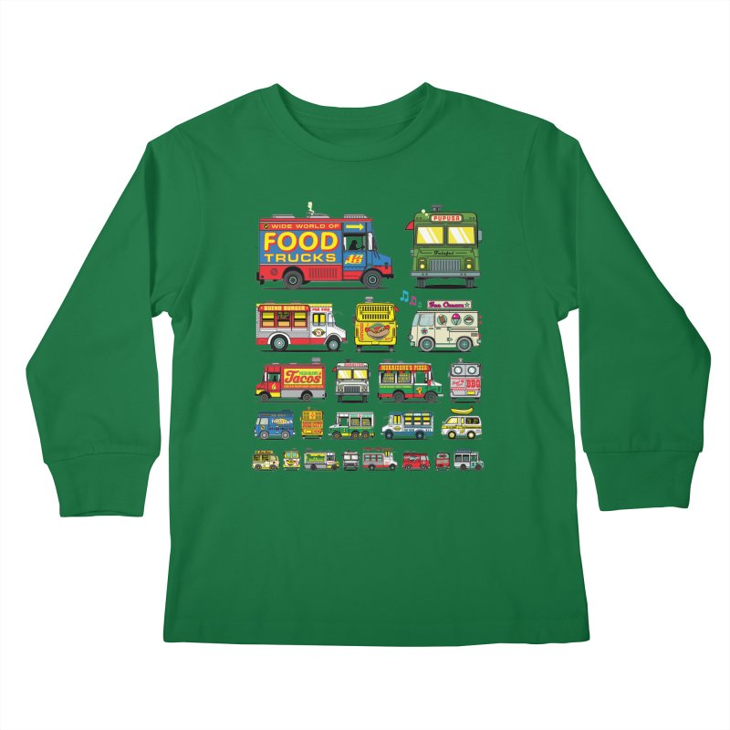 Food Truck Kids Longsleeve T-Shirt by Jesse Philips' Artist Shop