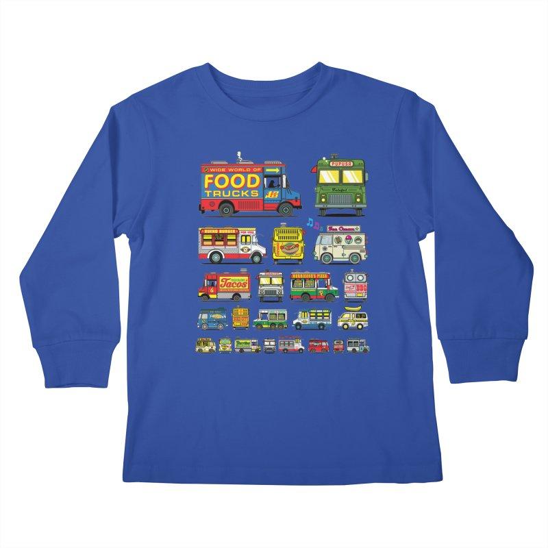 Food Truck Kids Longsleeve T-Shirt by Jesse Philips' Artist Shop