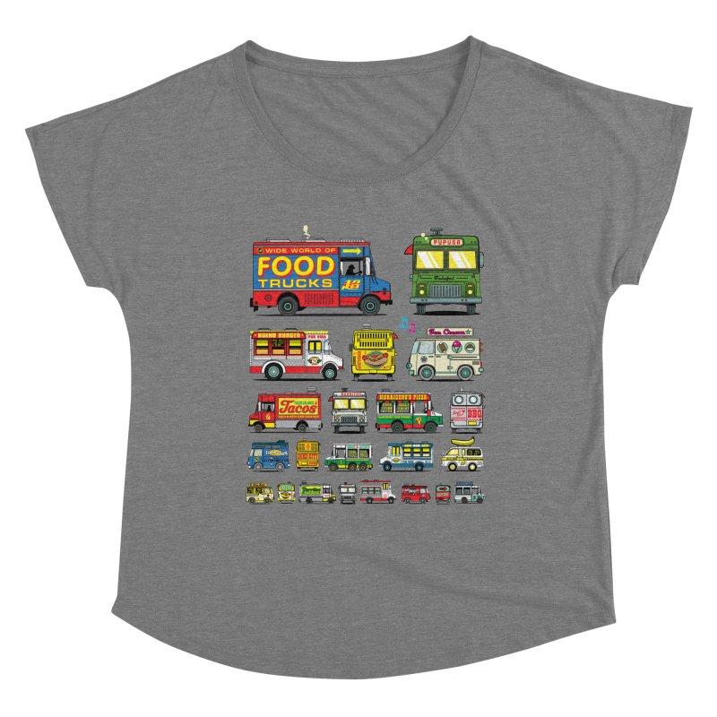 Food Truck Women's Scoop Neck by Jesse Philips' Artist Shop