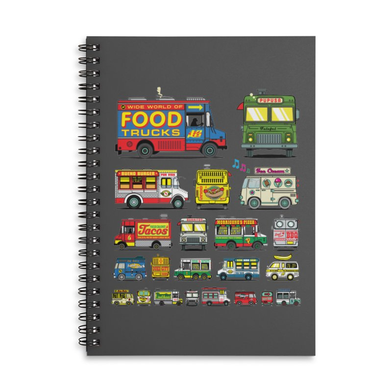 Food Truck Accessories Lined Spiral Notebook by Jesse Philips' Artist Shop