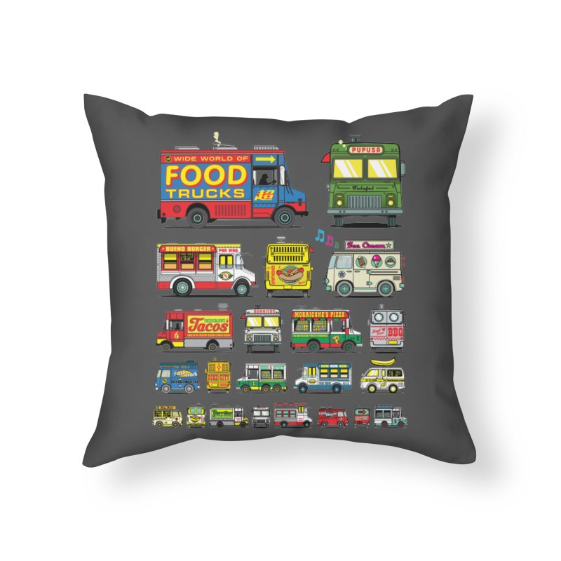 Food Truck Home Throw Pillow by Jesse Philips' Artist Shop